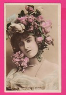 CPA (Réf: Z 3162) (SPECTACLE ARTISTES) MARIE LOUISE DERVAL Beau Chapeau Fleuri De Roses - Entertainers