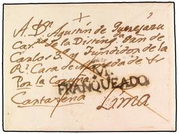 SPAIN: PREPHILATELIC MARKS  DP01 CASTILLA LA NUEVA - Espagne