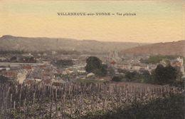 Cpa VILLENEUVE SUR YONNE VUE GENERALE Carte Couleur Vierge - Villeneuve-sur-Yonne