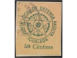 SPANISH CIVIL WAR. REPUBLICAN LOCAL WAR TAX - Emissions Républicaines