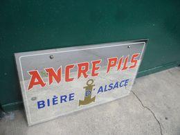 VINTAGE OLD MIROIR PUB BIERE D' ALSACE PILS TOP ETAT ! Avec Sa Chainette De Fixation Au Dos - PUBLICITE 25 Cm X 40 Cm - Alcools