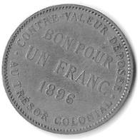 BON POUR UN FRANC 1896 - Réunion