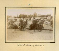 Grand Vaux Vienne Château Du Peu Lot De 5 Photos 8,5 X 6 Collées Sur Carton Fort - Ancianas (antes De 1900)