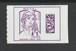 Timbre Adhésif - 1217-     -  2016    - Type Marianne De Ciappa Et Kawéna - Datamatrix - France