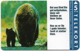 Denmark - KTAS - Bears - TDKP016 - 03.1993, 5kr, 2.000ex, Used - Danemark