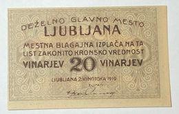 Slovenia 20 Vinarjev Ljubljana  1919 FDS LOTTO 451 - Slovénie