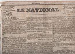 LE NATIONAL 22 05 1831 - ROME - FAENZA - ANVERS BRUXELLES - VITRé CHOUANNERIE - AMIENS - GRENOBLE - - Zeitungen