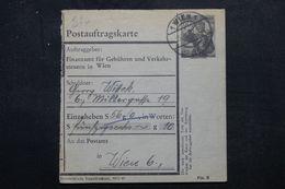 AUTRICHE - Entier Postal ( Récépissé ) De Mandat De Wien En 1952 - L 63385 - Entiers Postaux