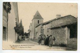 Saint Ciers Sur Bonnieure Environs De Mansle L'église Et La Place - France