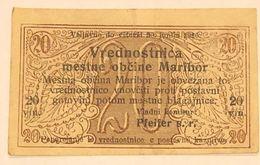 Jugoslavia Notgeld Maribor Ljubljana  1919 LOTTO 475 - Slovénie
