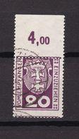Danzig - Portomarken - 1921 - Michel Nr. 2 P OR - Gestempelt - 40 Euro - Dantzig