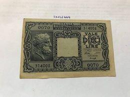 Italy 10 Lire Giove Banknote 1935 #1 - Italia – 10 Lire