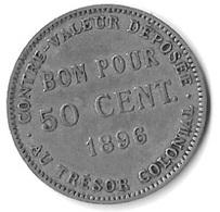 BON POUR 50 CENT 1896 REUNION - Réunion