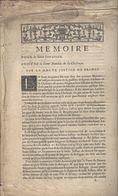 DRANCY Bobigny 1735 Imprimé  6 P. ( Contestation Des Droits De Haute Justice Prétendus Par Baudin De La Chesnaye ) - Historical Documents