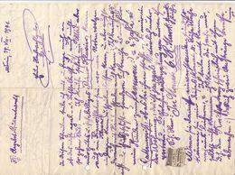 V1 - DOKUMENT 1941 (Handschriftlicher Kaufvertrag?), A3 Format, Doppelseitig - Historische Dokumente