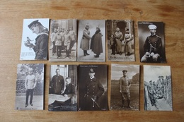 10 Cap Guerre 1914 1918   Allemandes  WWI  Lot 1 - Guerra 1914-18