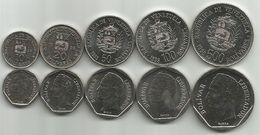 Venezuela 10 - 20 - 50 - 100 - 500 Bolivares 1998. HIgh Grade Set - Venezuela