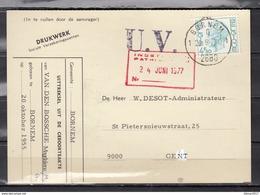 Kaart Van Bornem 1 Naar Gent U.V. - 1970-1980 Elström