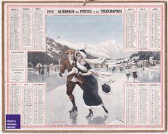 Almanach Calendrier 1914 - Saint-Moritz Thème Sport D' Hiver Montagne Patinage Glace Suisse Alpes Département Eure B1 - Calendarios
