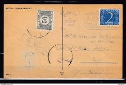 Postkaart Van Breda Naar Gent (Belgie) - Period 1949-1980 (Juliana)