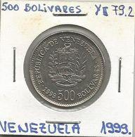 Venezuela 500 Bolivares 1999.  Y#79.2 - Venezuela
