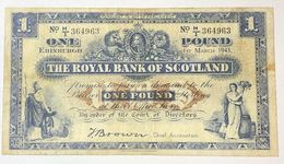 Scozia Scotland The Royal Bank Scotland 1  Pounds 1943 LOTTO 362 - Schotland