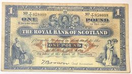 Scozia Scotland The Royal Bank Scotland 1  Pounds 1951 LOTTO 378 - Schotland