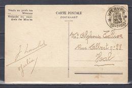Postkaart Van Vierves (sterstempel) Naar Hal - Poststempels/ Marcofilie