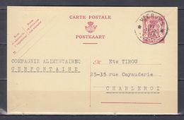 Postkaart Van Vierves (sterstempel) Naar Charleroi - Poststempels/ Marcofilie