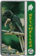Seychelles - C&W Seytels (L&G) - Black Parrot Of Praslin - 405A - 60U, 05.1994, 12.000ex, Mint - Seychelles