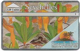 Seychelles - C&W Seytels (L&G) - Carnivorous Plant 1 - 422A - 120U, 12.1994, 20.000ex, Used - Seychelles