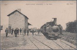 Plougasnou , Train En Gare , Animée - Plougasnou