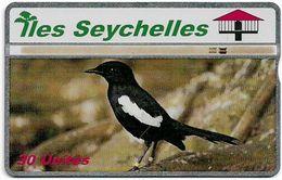 Seychelles - C&W Seytels (L&G) - Seychelles Singing Magpie - 608L - 30U, 08.1996, 20.000ex, Used - Seychelles