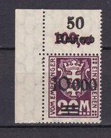 Danzig - Portomarken - 1923 - Michel Nr. 27 P OR Ecke - Postfrisch - Danzig