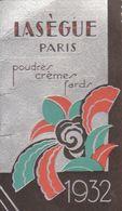 Petit Calendrier Lasègue : Poudres Crèmes Fards 1932  ///  Ref.  Juin   20 / N° 11.822 - Kalenders