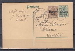 Postkaart Van Veerle (sterstempel) Naar Desschel - Guerre 14-18