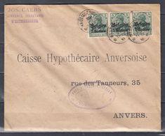 Brief Van Westmeerbeek (sterstempel) Naar Anvers - Guerre 14-18