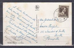 Postkaart Van Vierves (sterstempel) Naar Ixelles Bruxelles - Poststempels/ Marcofilie