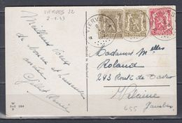 Postkaart Van Vierves (sterstempel) Naar Velaine - Poststempels/ Marcofilie