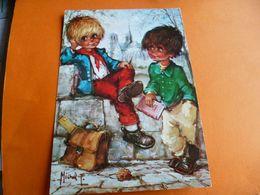 """Enfants Avec Livre Et Cartable """"par  Michel Thomas """" Neuve"""" Edit Art Pictural  Cp 1663/1 - Thomas"""