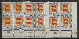 """N° 901 (x3) ** (MNH). 3 Coins Datés Du 22/5/51, 3/1/52 Et Du 4/1/52 """" Armoiries Béarn """" - 1950-1959"""