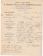 Facture 1906 / S. OUDOT Neveu De COSSON / Constructeur Mécanicien / Installation De Moulins / 51 Charmont / Marne - 1900 – 1949