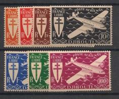 Côte Des Somalis - 1943 - Poste Aérienne PA N°Yv. 1 à 7 - Série Complète - Neuf Luxe ** / MNH / Postfrisch - Costa Francese Dei Somali (1894-1967)
