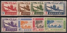 Dahomey - 1942 - Poste Aérienne PA N°Yv. 10 à 17 - Série Complète - Neuf Luxe ** / MNH / Postfrisch - Nuovi