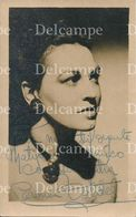 ARTIST WOMAN Argentina Actress CARMEN VALDES With Autograph Hand Signed Dedicacee - Photo PC 1940' - Dédicacées