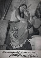 ARTIST WOMAN Argentina Folk Folclore Singer MARTA De Los RIOS With Autograph Hand Signed Dedicacee - Photo 15x10cm 1940' - Dédicacées