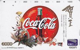 Carte Prépayée JAPON - COCA COLA & Jeu Jouet TOUPIE / NEW YEAR 2000 - TOPSPIN JAPAN Tosho Card - KREISEL - 4687 - Alimentación