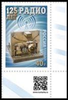 RUSSIA 2020 Stamp MNH VF ** Mi 2852 POPOV RADIO INVENTION INVENTOR ENGINEER TELECOM COMMUNICATION 2635 - Ungebraucht
