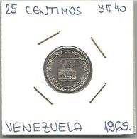C9 Venezuela 25 Centimos 1965. High Grade - Venezuela