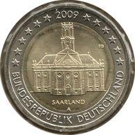 AL20009.2A - ALLEMAGNE - 2 Euros Commémo. Sarre Ludwigskirche - 2009 A - Germany